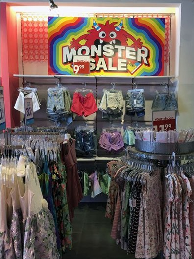 Monster Merchandising Sale Signage Theme