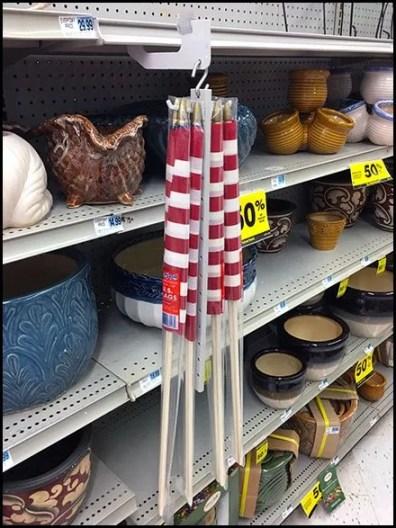 Peg Strip Merchandiser Flag Two-Fer Offer