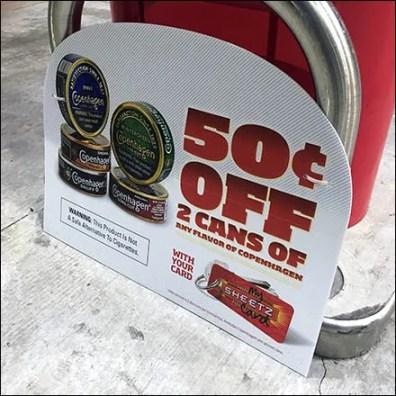50C Off Gas Pump Island Starting Gate Promotion