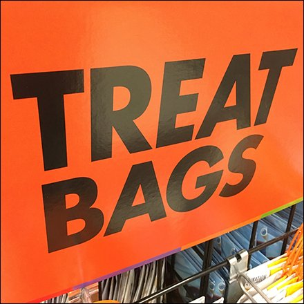 Halloween Trick or Treat Bags Display