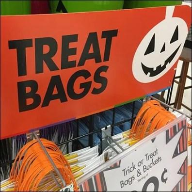 Halloween Trick or Treat Bags Display