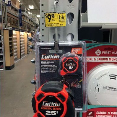 Luftkin Tape Measure Two-Fer Strip Merchandiser
