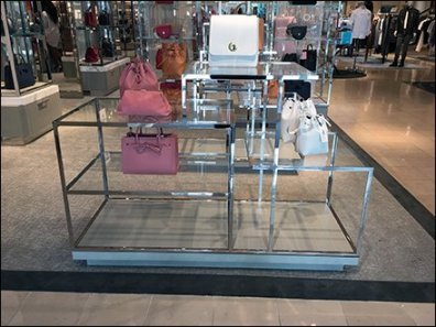 Neiman Marcus Chrome Display Table Intricacy