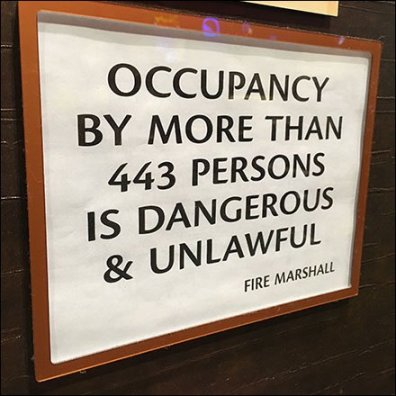 Cafe Occupancy By More Than 443 Unlawful