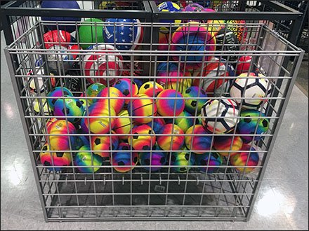 Rectangular Open Wire Bulk Bin for Balls