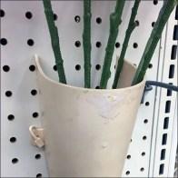 Pegboard-Mount Flower Vase Display Detail