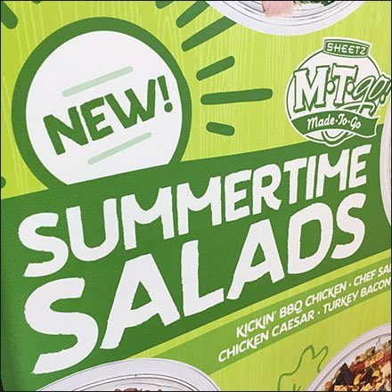 New Made-To-Go Summertime Salads Sign