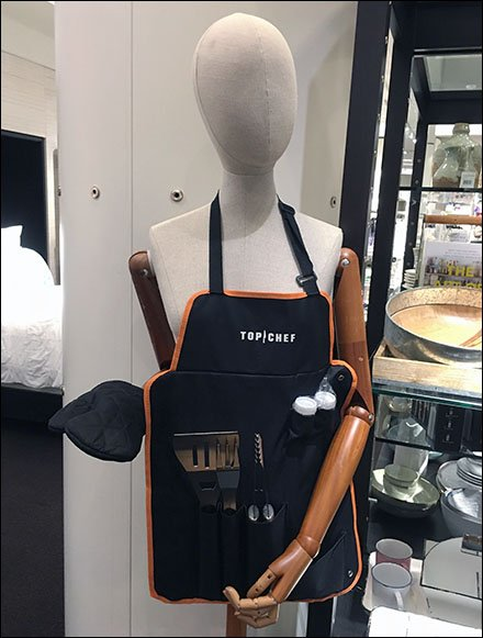 Top Chef Cookout Apron Body Form Display