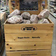 Trophy Rock Salt Lick Wood Bulk Bin Display 1