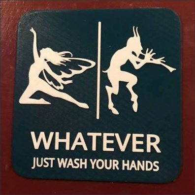 Whatever Gender or Species, Just Wash Your Hands