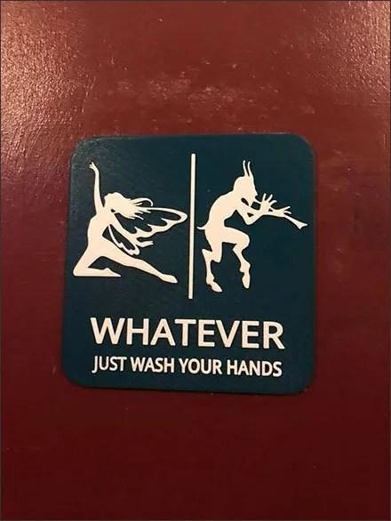 Whatever Gender or Species, Just Wash Your Hands