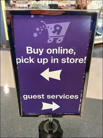 Buy Online, Guest Services Directional Flip Flop