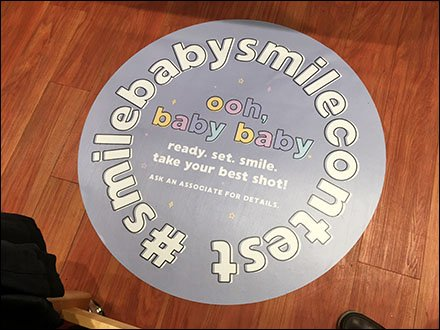 Smile Baby Smile Floor Graphic #Hashtag
