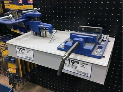 Heavy-Duty Pegboard Mount Vise Display Redux