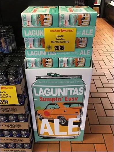 Lagunitas Sumpin Easy 12-Pack Ale Display