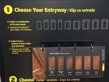 Design Your Own Entry Door In-Store Display