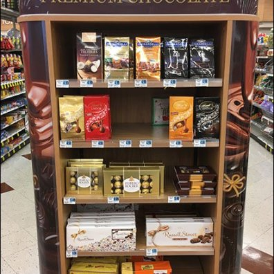 Premium Chocolate End Aisle Display