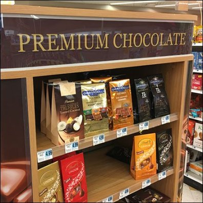 Premium Chocolate End Aisle Display