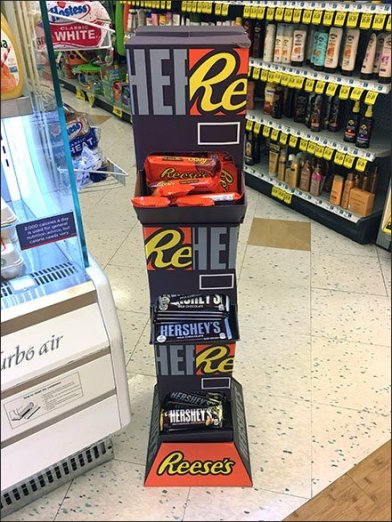 Dual Reeses Hershey Candy Tower Displayer
