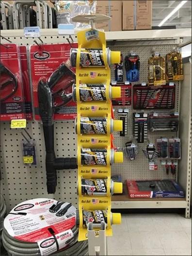 Rust Belt Warriors Spray Can Strip Merchandiser 1
