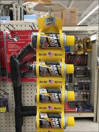 Rust Belt Warriors Spray Can Strip Merchandiser 2