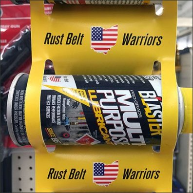 Rust Belt Warriors Spray Can Strip Merchandiser