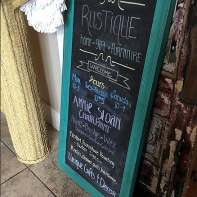 Chalkboard Sign Rustique Rustic