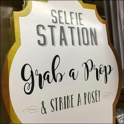 Selfie Station Strike A Pose Store Sign