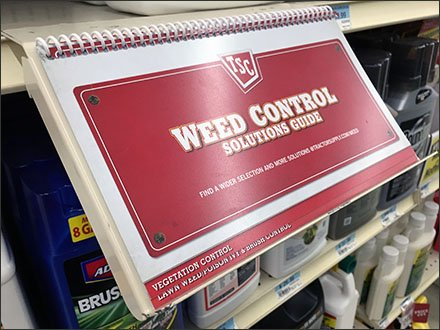 Shelf-Edge Spiral-Bound Weed Control Guide