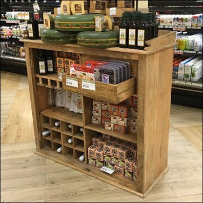 Antique Wood Sideboard Repurposed for Grocery