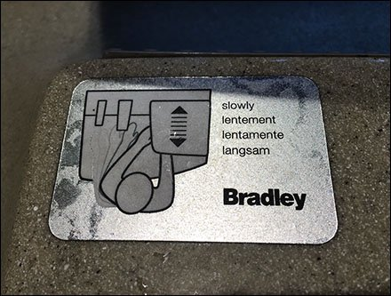 Bradley Sink Soap, Water, and Air Dry Icons