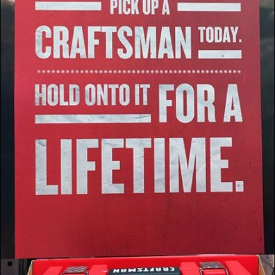 Craftsman Tool Set Lifetime Endcap Display