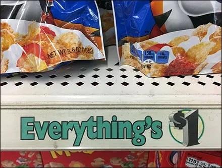 Everything's $1 Shelf Edge C-Channel Branding