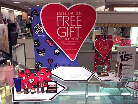 Estee Lauder Free Gift Counter-Top Display