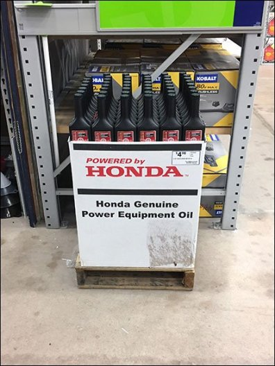 Genuine Power Equipment Oil Honda Branding