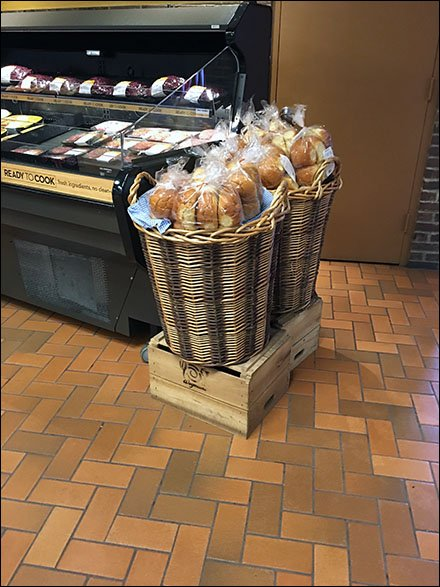 Add Gingham to Your Wicker Basket Staging