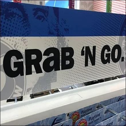 Grab 'N Go Sundries Merchandising Sign