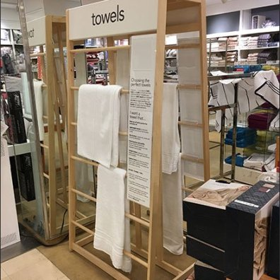 Freestanding Trapezoid Towel Display Rack