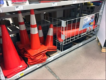 Traffic Cone Bulk Bin Multilingual Promotion