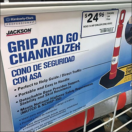 Traffic Cone Bulk Bin Multilingual Promotion