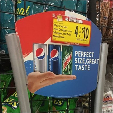 Pepsi Perfect 8-Pack Beverage Tower Rack