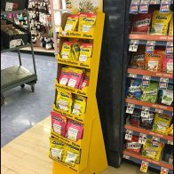 Ricola Corrugated Floorstand Display Point-of-Purchase