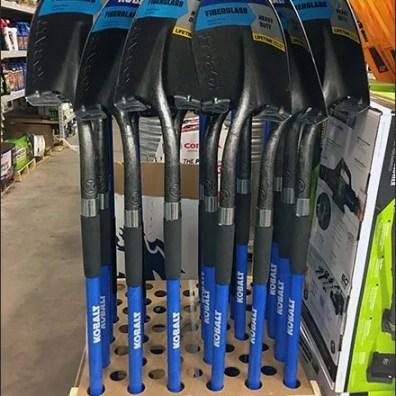 Shovel and Rake Rack Kobalt Branded
