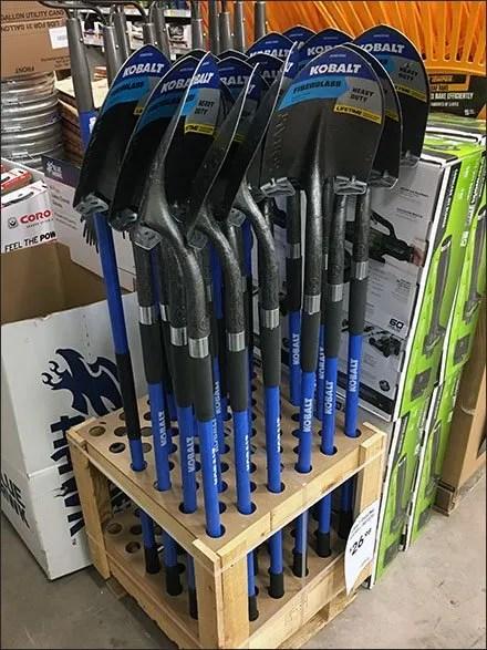 Shovel and Rake Rack Branded Kobalt