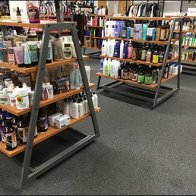 Trapezoid Shelf Units for Health and Beauty Aids