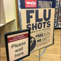 Wait Here For Flu Shot Queue Management