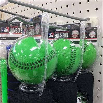 Baseball Bat and Ball Straight-Entry Hookery