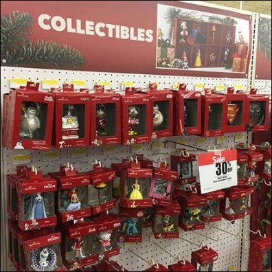 Christmas Collectables Holiday Ornaments Display