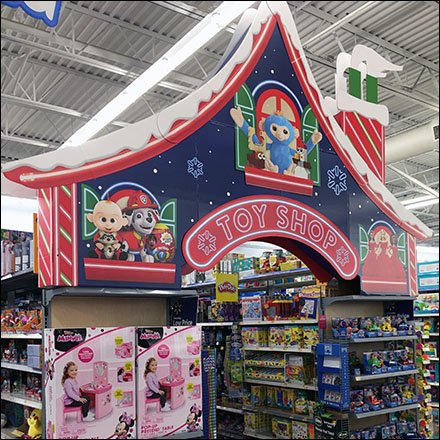 Christmas Toy Shop Aisle Flyover Feature