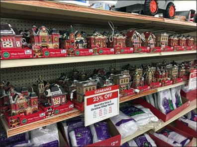 Discount Christmas Village Merchandising